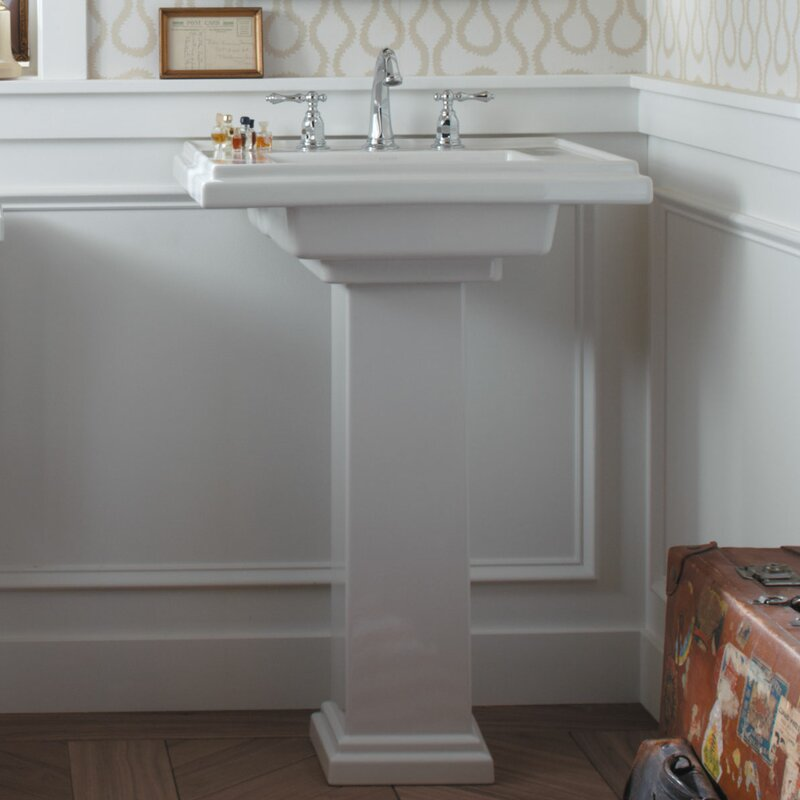 pedestal bathroom sinks. Tresham  Ceramic 30 Pedestal Bathroom Sink with Overflow Kohler
