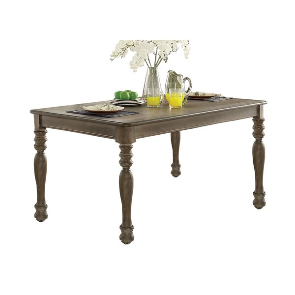 Suzan Solid Wood Dining Table by Canora Grey Canora Grey