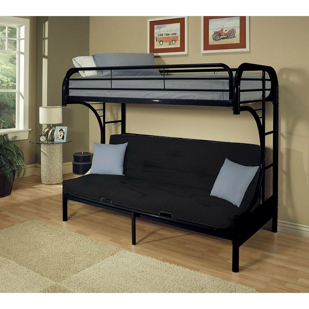 Zoomie Kids Kelm Metal Tube Futon Bunk Bed Frame Wayfair