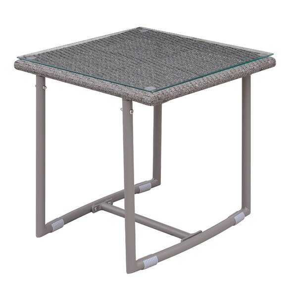 Bequette Glass Side Table by Latitude Run