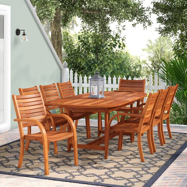 Frye 9 Piece Dining Set by Beachcrest Home