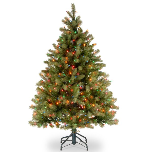 Downswept Douglas 4.5 Green Fir Artificial Christmas Tree with 450 Multi Lights and Stand by The Holiday Aisle