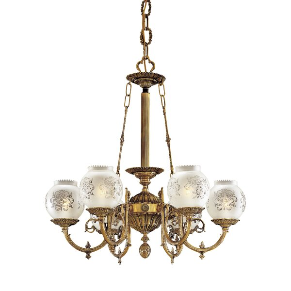Vintage 6-Light Shaded Classic / Traditional Chandelier By Metropolitan By Minka