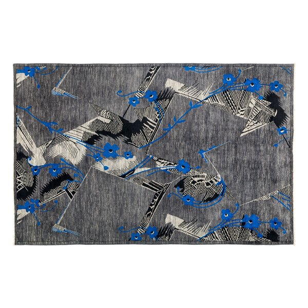 One-of-a-Kind Eclectic Hand-Knotted Gray Area Rug by Darya Rugs