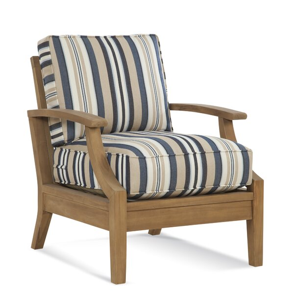 Messina Teak Patio Chair with Cushions by Braxton Culler