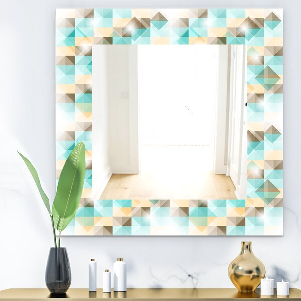 Triangular Colourfields 26 Mid-Century Wall Mirror