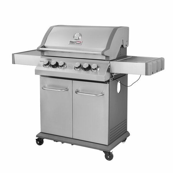 4-Burner Liquid Propane Gas Grill with Side Burner by Royal Gourmet Corp