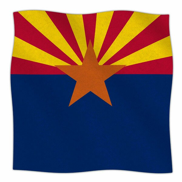 Flag Of Arizona by Bruce Stanfield Fleece Blanket by East Urban Home