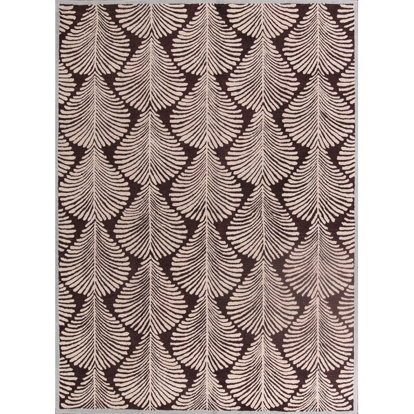 Calderon Oushak Oriental Hand-Tufted Wool Brown Area Rug by Rosecliff Heights