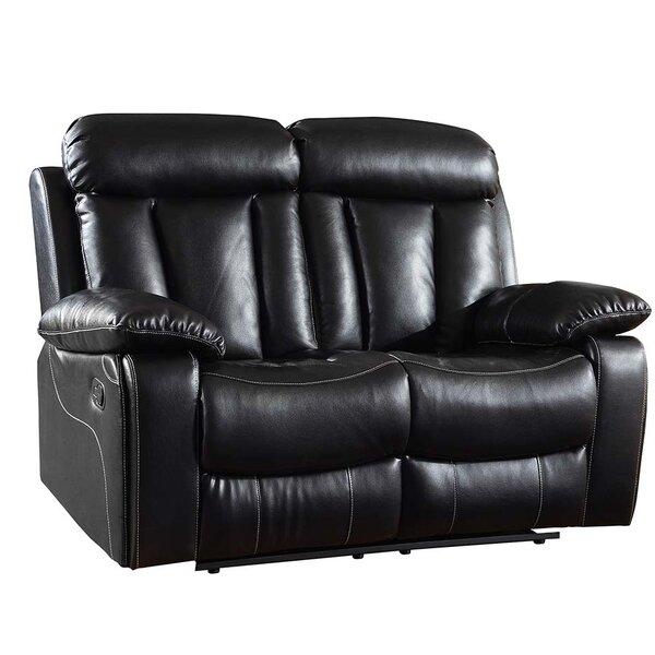 Ullery Upholstered Living Room Recliner Reclining Loveseat by Winston Porter