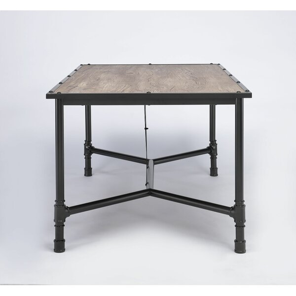 Croll Industrial Dining Table by 17 Stories