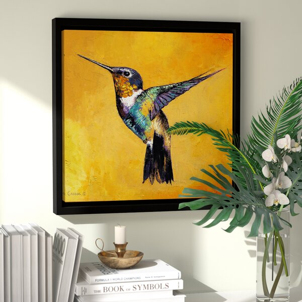 Hummingbird Framed Painting Print by Bay Isle Home