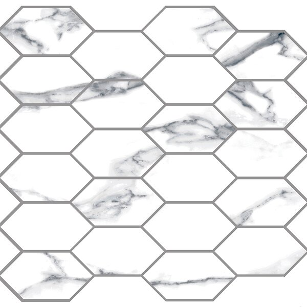 Statuario 2 x 4 Porcelain Mosaic Tile in White by Madrid Ceramics