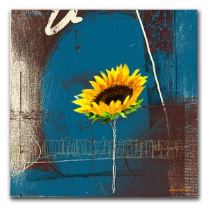 Sunflower by Miguel Paredes Framed Painting Print on Wrapped Canvas by Trademark Fine Art