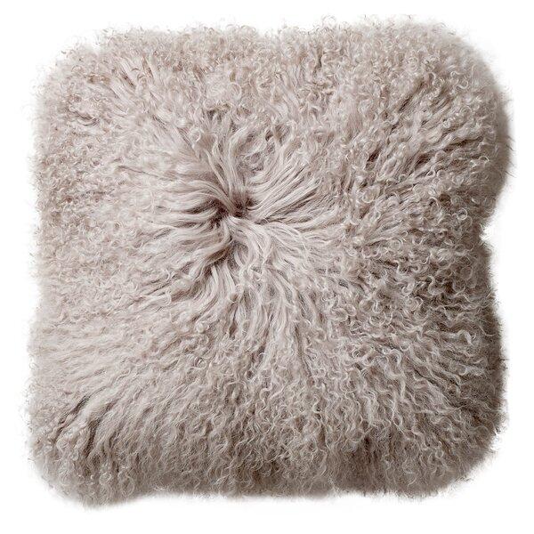 Morillo Mongolian Lamb Fur Throw Pillow by House of Hampton