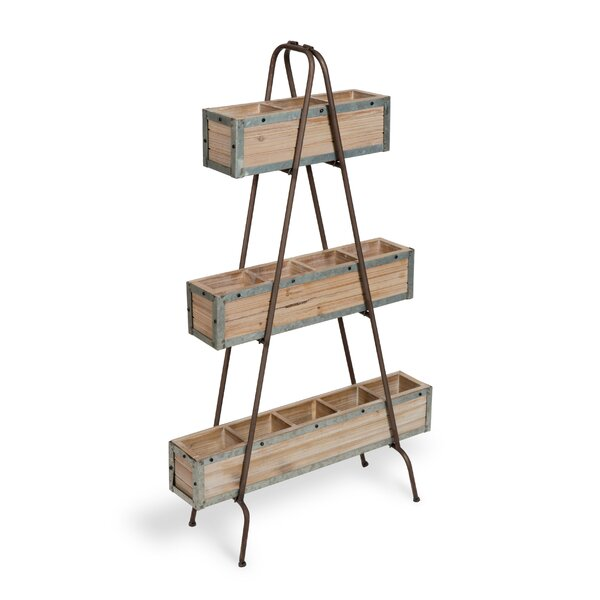 Rosalia 3 Tiered Free Standing Farmhouse Chic Vertical Garden by Gracie Oaks