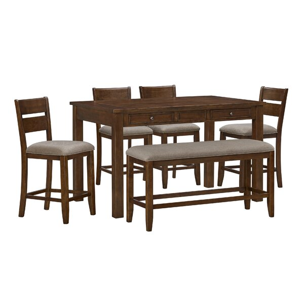 Faizan 5 Piece Counter Height Dining Set by Charlton Home Charlton Home