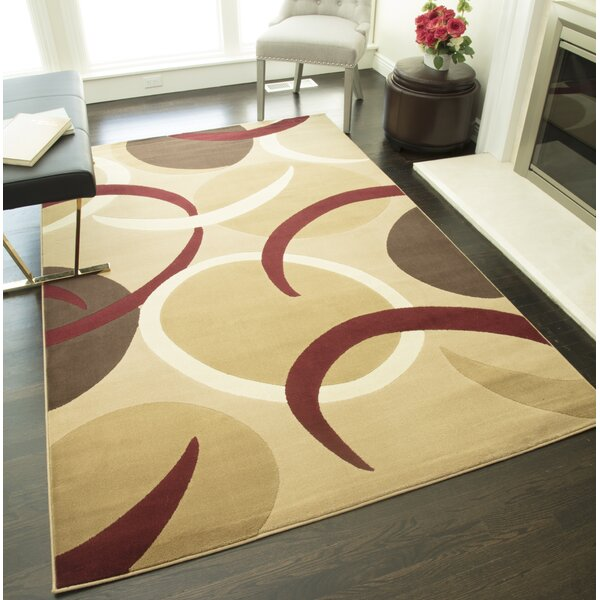 Allston Brown/Beige Area Rug by Threadbind