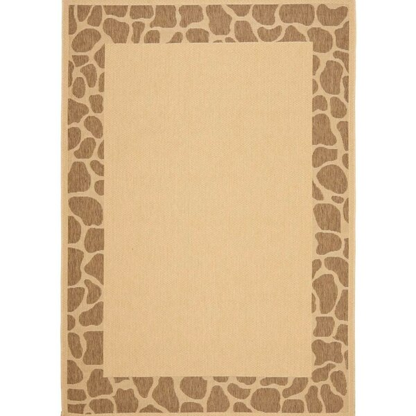 Alver Lake Beige/Brown Indoor/Outdoor Area Rug by World Menagerie