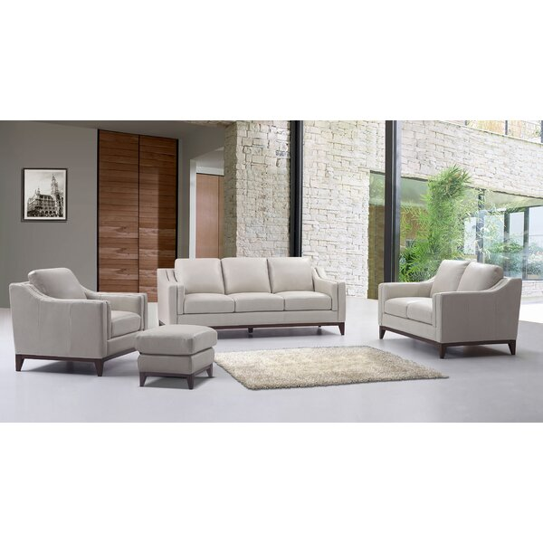 Lydia Leather Configurable Living Room Set by Brayden Studio
