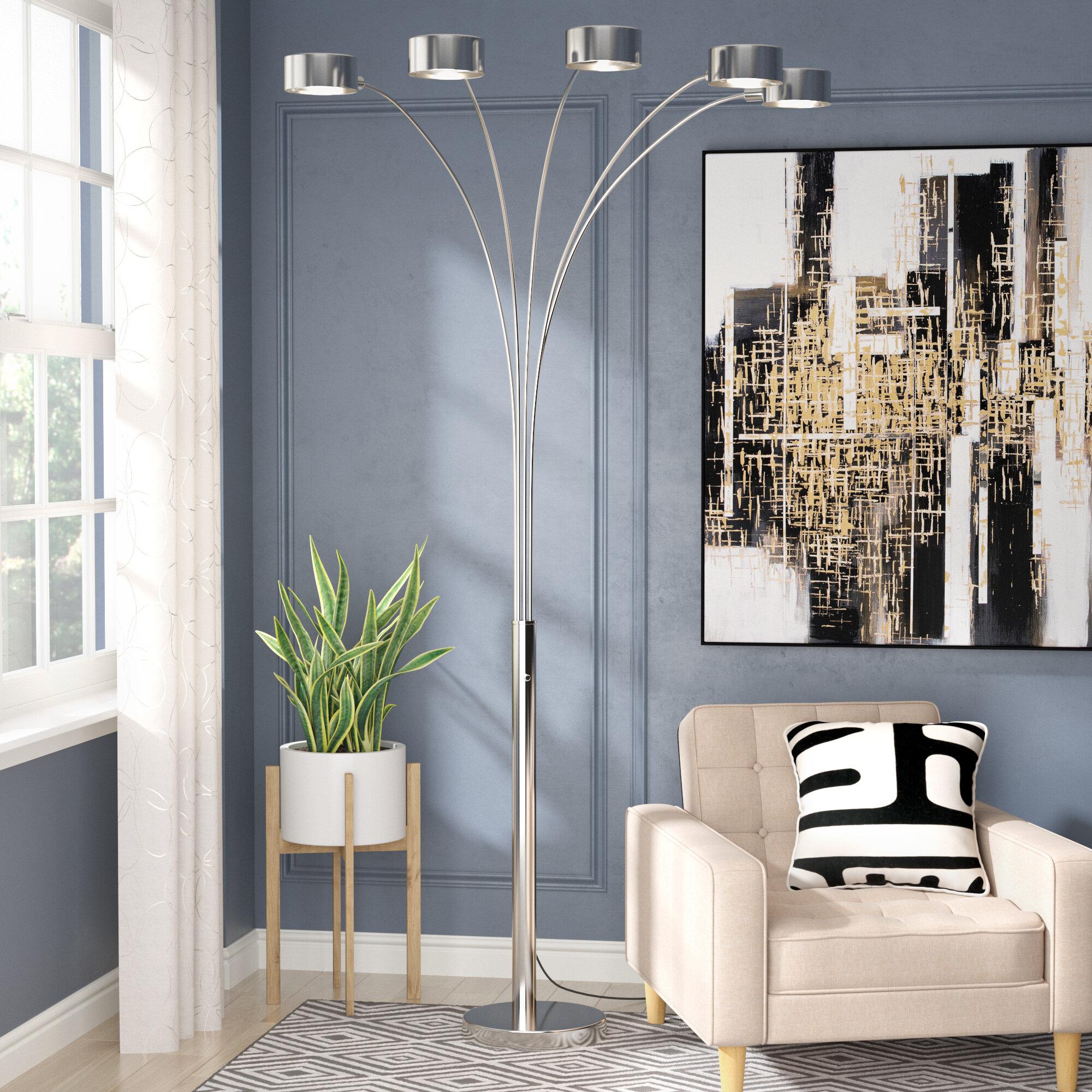 Orren Ellis Mccary 88 Led Tree Floor Lamp Reviews Wayfair 3 Way Dimmer Switch Rona