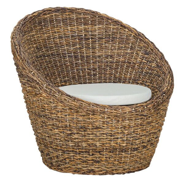 Tony Woven Rattan Armchair By Rosecliff Heights