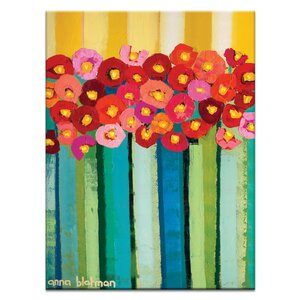 Vintage Poppies by Anna Blatman Painting Print on Canvas by Artist Lane