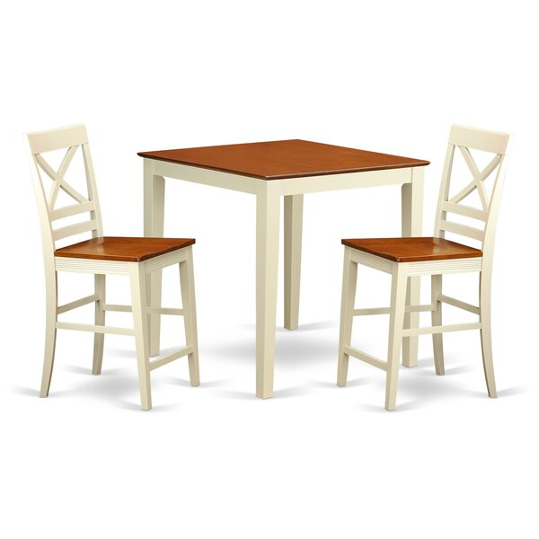 Given 3 Piece Counter Height Pub Table Set by Charlton Home