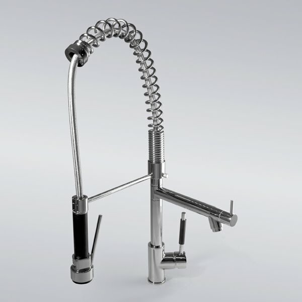 Deck Mount Kitchen Sink Faucet with Pull Out Spray by Kokols