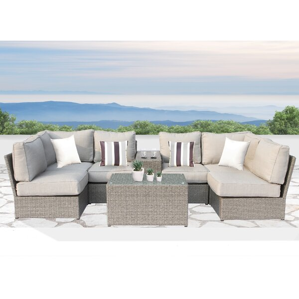 Winsford 8 Piece Sectional Seating Group with Cushions by Rosecliff Heights