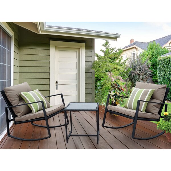 Kemmer 3 Piece Rocking Seating Group With Cushions By Charlton Home by Charlton Home Best Design