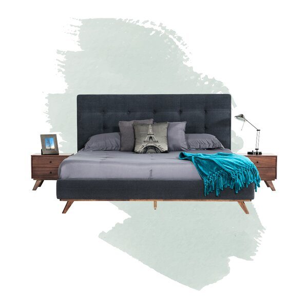 Rocco Tufted Upholstered Platform Bed By Foundstone
