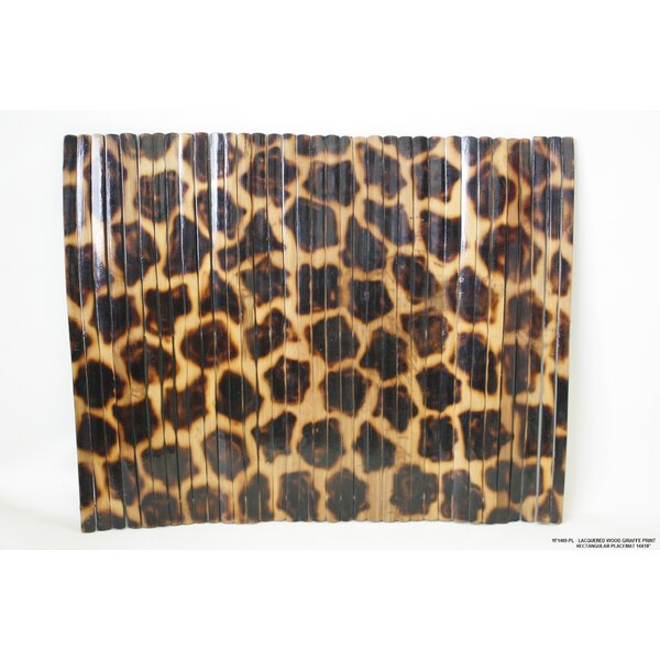 Lacquered Wood Giraffe Print Placemat (Set of 4) by Desti Design
