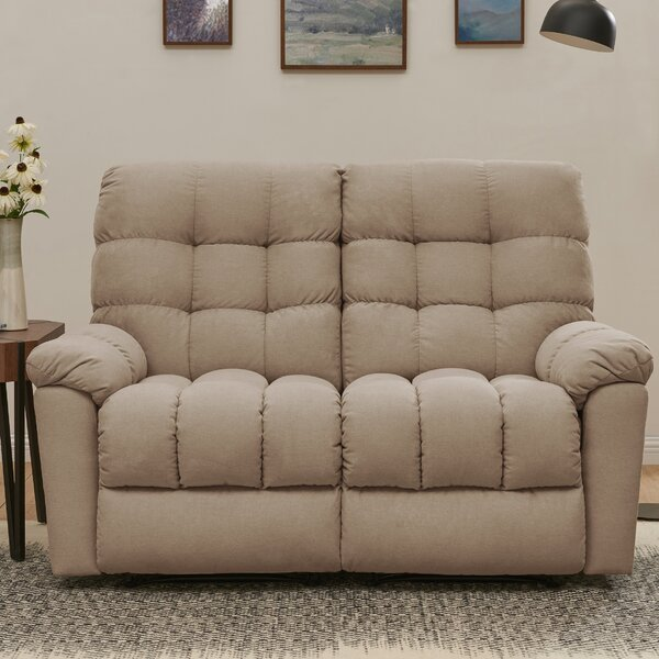 Discover Luxurious Maxfield Tufted Reclining Loveseat by Red Barrel Studio by Red Barrel Studio