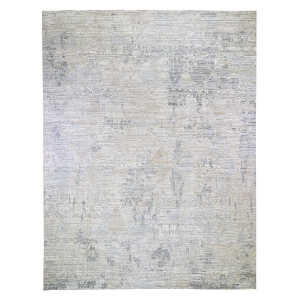 One-of-a-Kind Hand-Knotted New Age Ivory 12' x 15'1 Area Rug