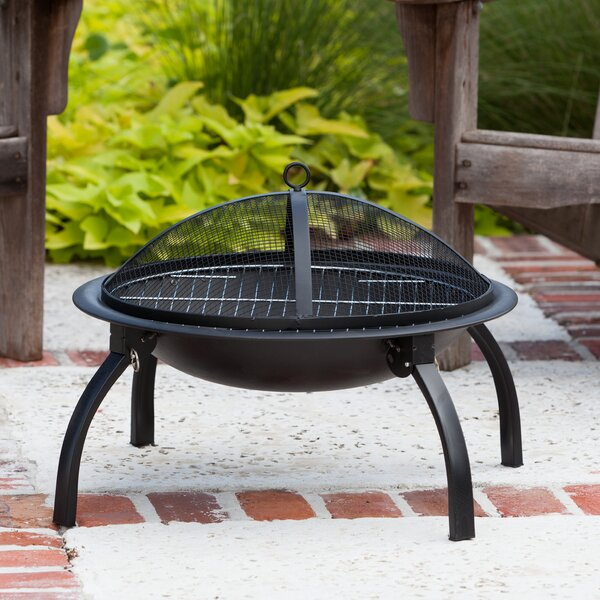 Dorsett Steel Wood Burning Fire Pit by Charlton Home