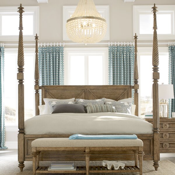 Gerakies Four poster Bed by Bay Isle Home