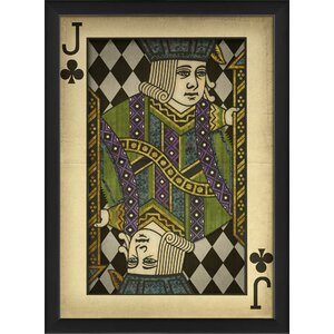 Jack of Clubs Harlequin Playing Card Framed Graphic Art by The Artwork Factory