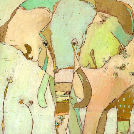 Trumpette Elephant Canvas Art by Oopsy Daisy