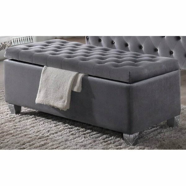 Queenborough Upholstered Flip Top Storage Bench by Rosdorf Park