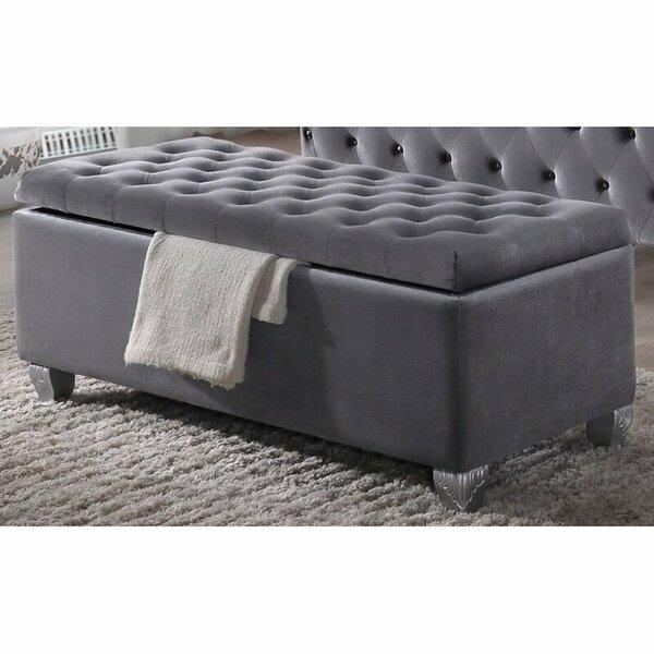 Queenborough Upholstered Flip Top Storage Bench by Rosdorf Park
