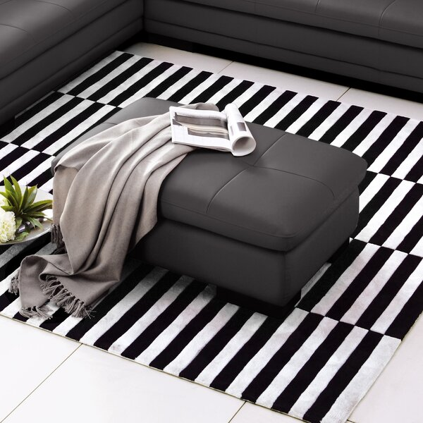 Marceline Leather Ottoman By Orren Ellis