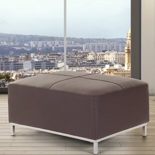 Lillo Leather Cube Ottoman by Home Loft Concepts