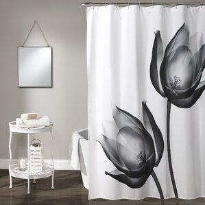 Affleck Shower CurtainGray Silver Shower Curtains You Ll Love Wayfair