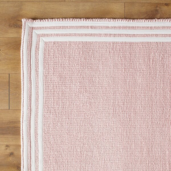 Three Strikes Hand-Woven Pink/White Area Rug by Birch Lane Kids™