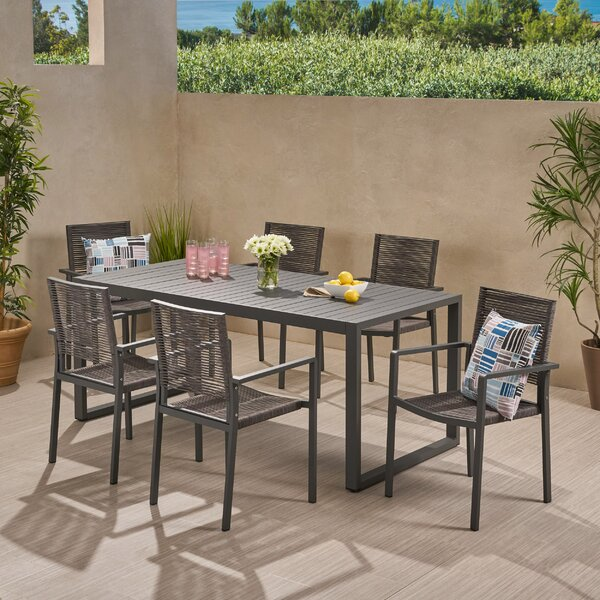 Hussain 7 Piece Dining Set by Brayden Studio
