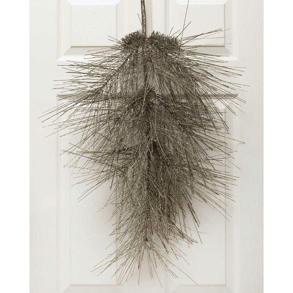 Sparkle Silk Pine Door Bough Swag by ZiaBella