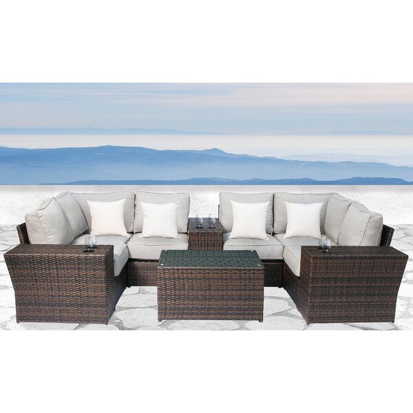 Widener 10 Piece Sectional Seating Group with Cushions by Sol 72 Outdoor Sol 72 Outdoor