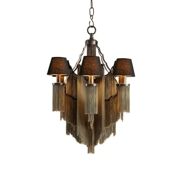 Fringe 6-Light Shaded Empire Chandelier by Eichholtz Eichholtz
