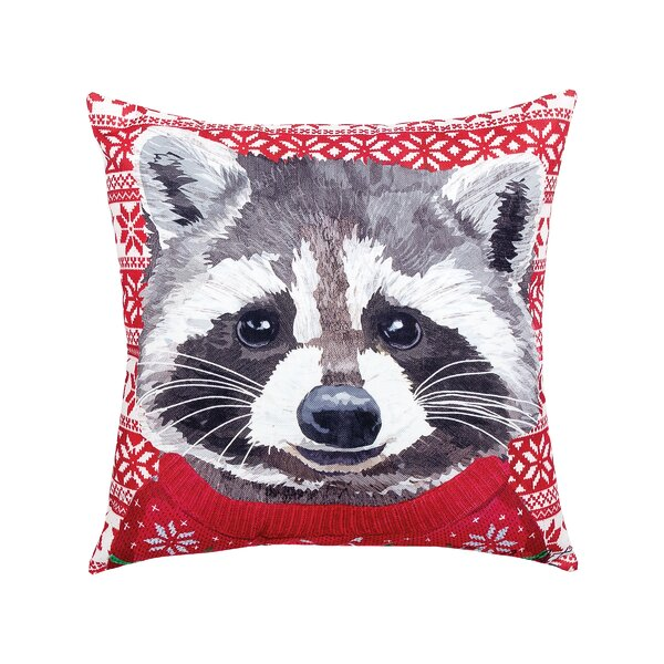 Felten Raccoon Indoor/Outdoor Throw Pillow by The Holiday Aisle